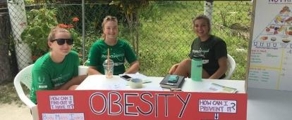 Students lead a health campaign on obesity as part of their Projects Abroad Public Health work for teenagers in Belize.